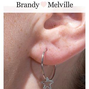 Brandy Melville star hoop earrings John Galt